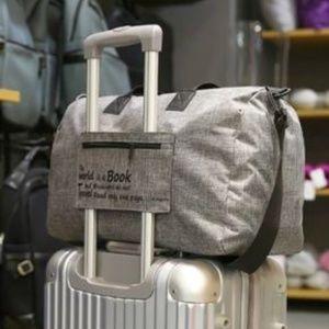 Handbags - NEW Folding Long Travel Luggage Bag (Gray)